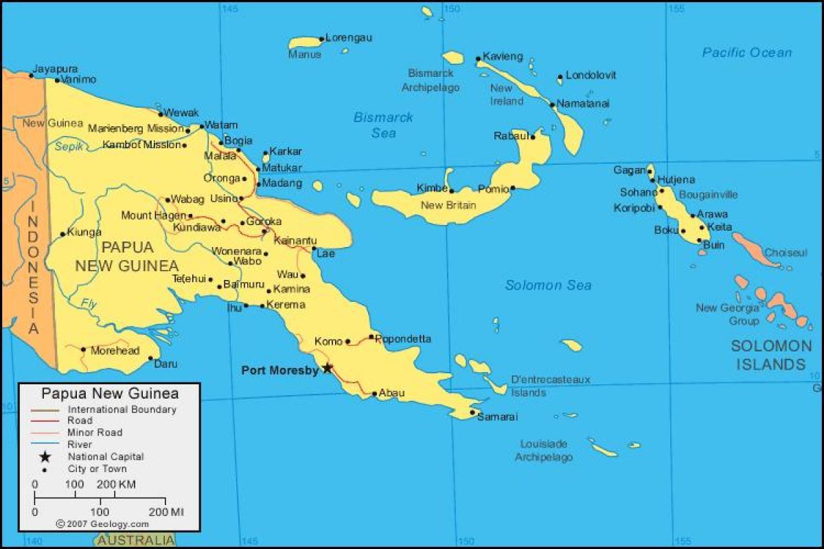 図パプアニューギニア島の地図パ...